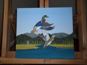 Painting started titled Taking Flight